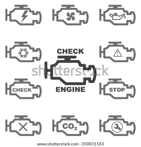 Check Engine Light Symbol, Check, Free Engine Image For