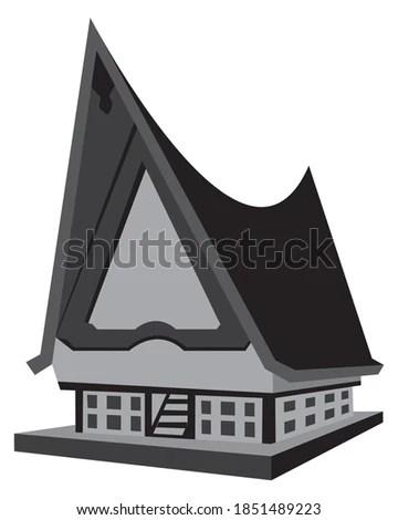 Rumah Adat Karo Vector : rumah, vector, Shutterstock, PuzzlePix