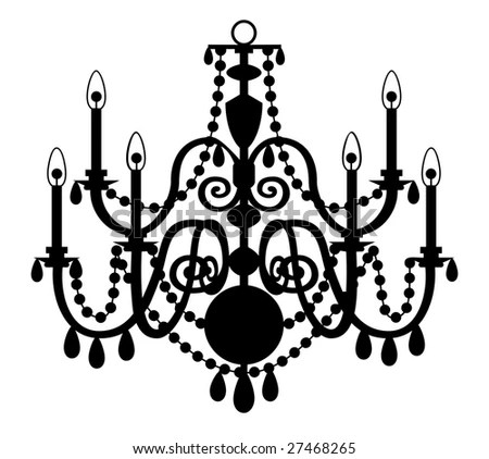 Vector Chandelier Isolated On The White Background