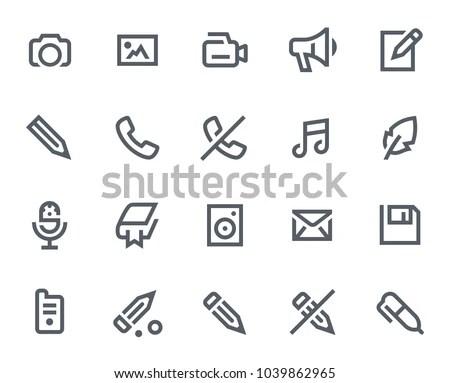 Vector graphic editor mini icons set Stock Photo 183426563