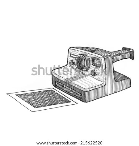 instant polaroid camera drawing Gallery
