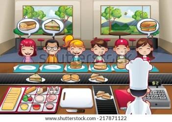 cartoon restaurant vector inside boys fast shutterstock chef indoor diner suggestions keywords related welcome
