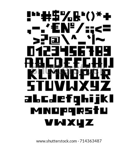 Letter A-Z, font from binary code… Stock Photo 158864507