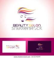 hair salon logo. creative beauty