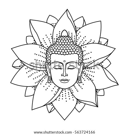 Buddha face isolated on a white… Stock Photo 476930191