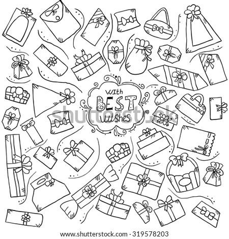 Doodle style party or celebration… Stock Photo 121853197