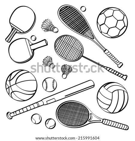 Badminton Racket clip art Free Vector / 4Vector