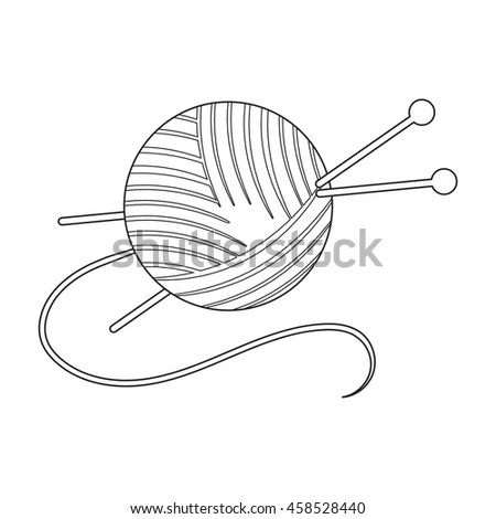 Sketch For Sewing Needle And Thread Coloring Pages
