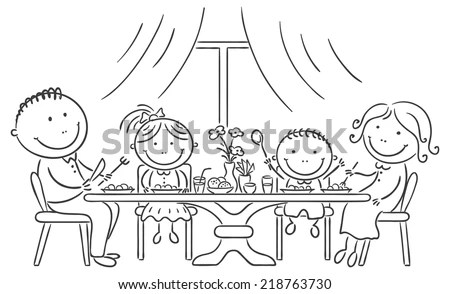 Royalty-free Family having meal together #212797303 Stock