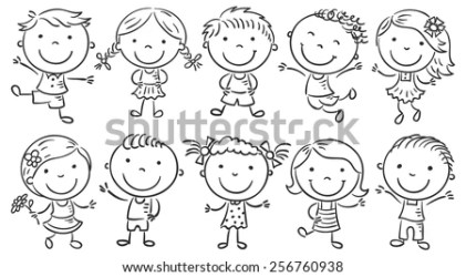 Kids Clip Art Boy And Girl Clipart Black And White Stunning free transparent png clipart images free download