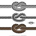 Nautical rope knots vector vector black rope knot symbols