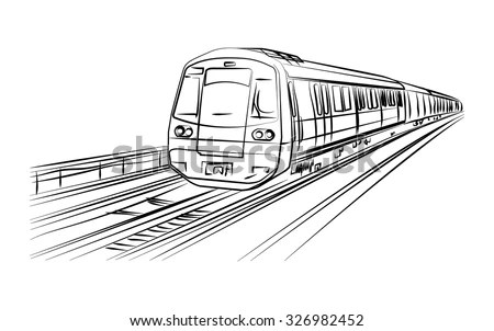 Royalty-free Metro sketch in vector #386381716 Stock Photo