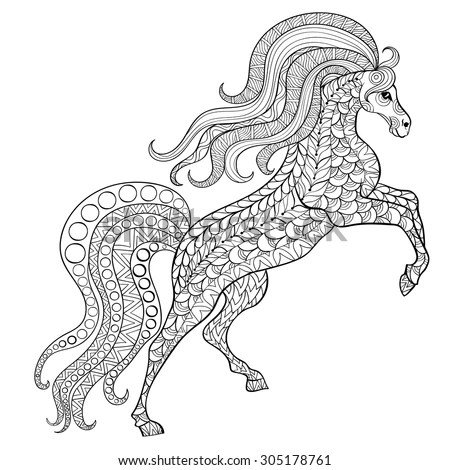 Royalty-free Silver running horse made by floral