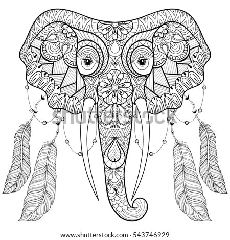 Royalty-free Zentangle stylized ethnic indian… #457498861