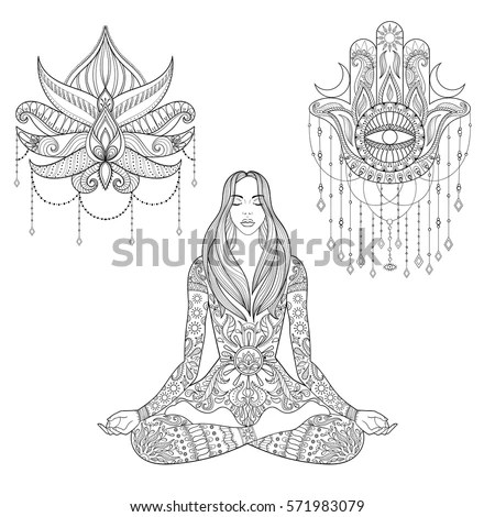 Vector Images, Illustrations and Cliparts: Woman sitting
