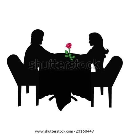 romantic dinner stock vector illustration