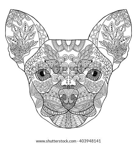 Zentangle Stylized Doodle Ornate Vector Of Chihuahua Dog