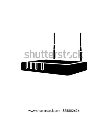 Wireless ADSL Modem Router Vector Free Vector / 4Vector