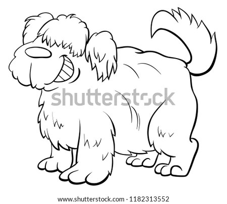 Fat sheep clip art. Vector cartoon… Stock Photo 163032224