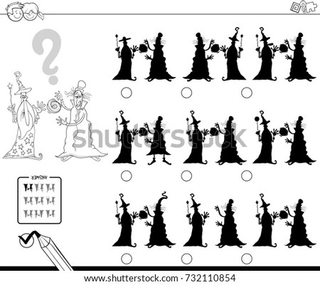Royalty-free Black and White Cartoon Vector Illustration