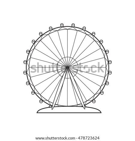 Ferris wheel silhouette, circle.… Stock Photo 429564820