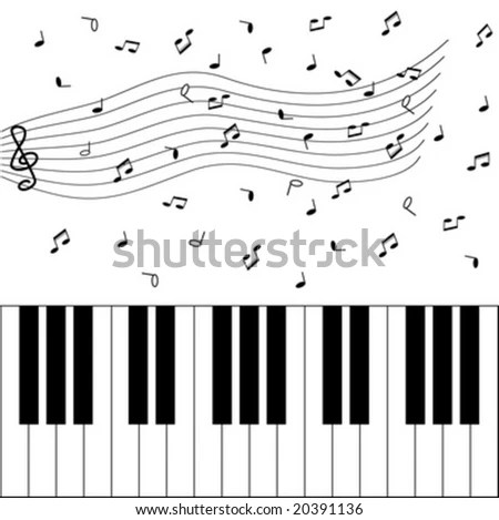 Piano And Music Notes Stock Vector Illustration 20391136