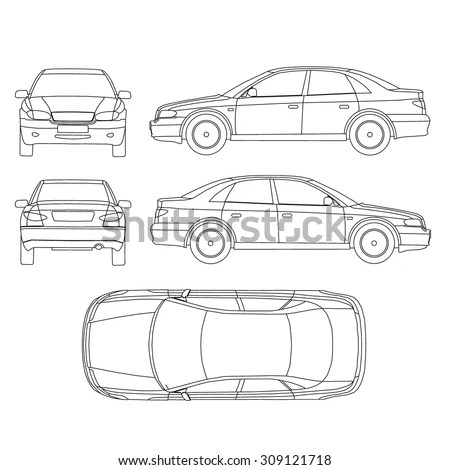 Vector Images, Illustrations and Cliparts: Car line draw