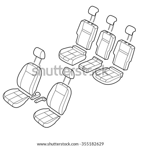 Vector Images, Illustrations and Cliparts: Car seats