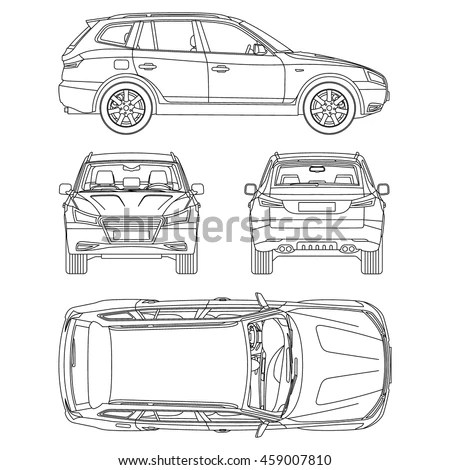 Vector Images, Illustrations and Cliparts: car suv drawing