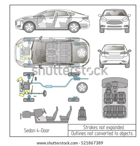 Vector Images, Illustrations and Cliparts: car sedan