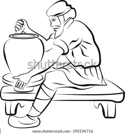 Potter Stock Vector Illustration 290196716 : Shutterstock