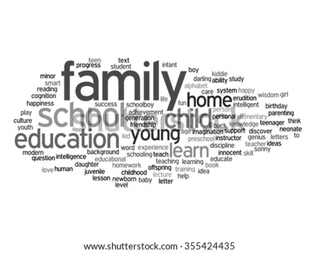 Vector concept or conceptual education abstract word cloud