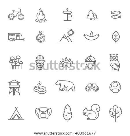 Vector Images, Illustrations and Cliparts: Camping, Forest