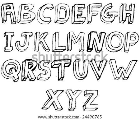 Printable Graffiti Bubble Letters Alphabet