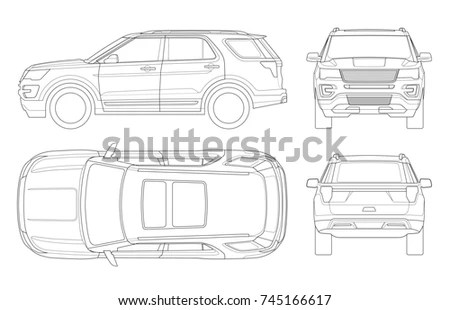 Royalty-free Car Pickup truck double cab vector