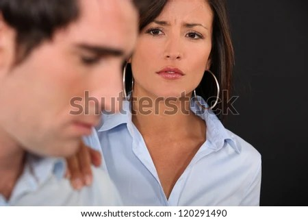 Unhappy couple - stock photo