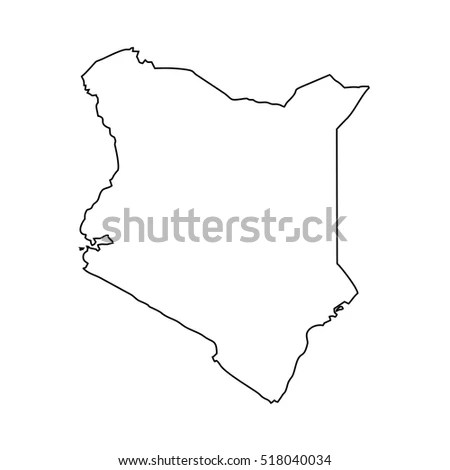Flag map of Kenya logo vector