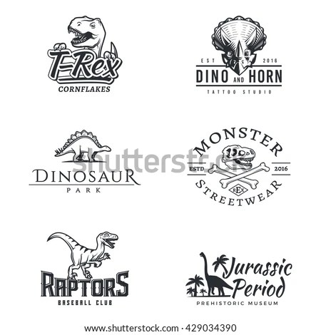 Set of vintage rodeo emblems, labels,… Stock Photo