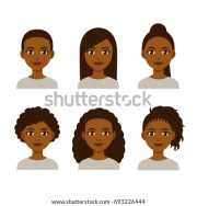 royalty-free afro girl emotions