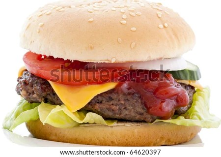 stock photo : Cheeseburger