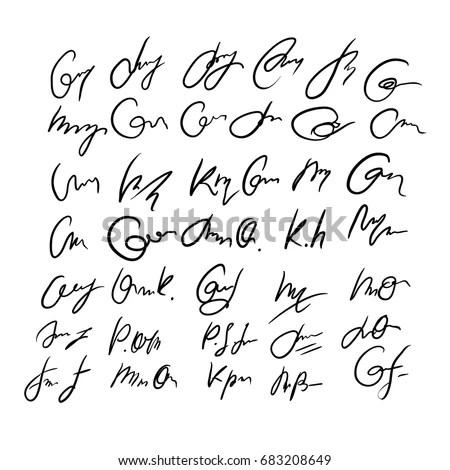 Hand written English alphabet letters.… Stock Photo