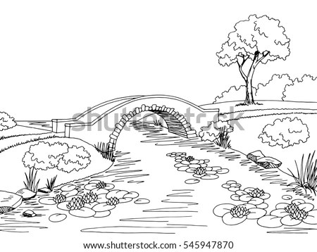 Vector Images, Illustrations and Cliparts: Bridge graphic