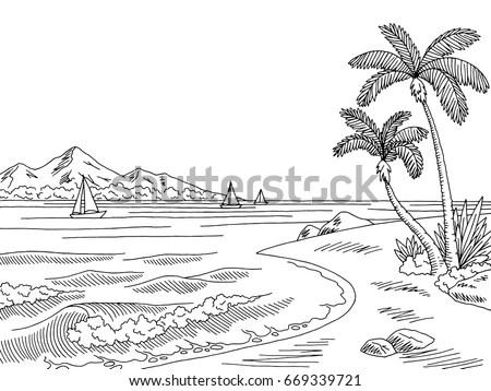 Royalty-free Beach doodle illustration #103090277 Stock
