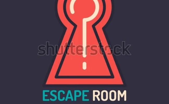 Real Life Room Escape And Quest Game Poster Stock Vector