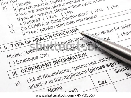 Close-Up Photograph Of An Employee Group Health Insurance