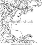 beautiful girl with long hair.girl