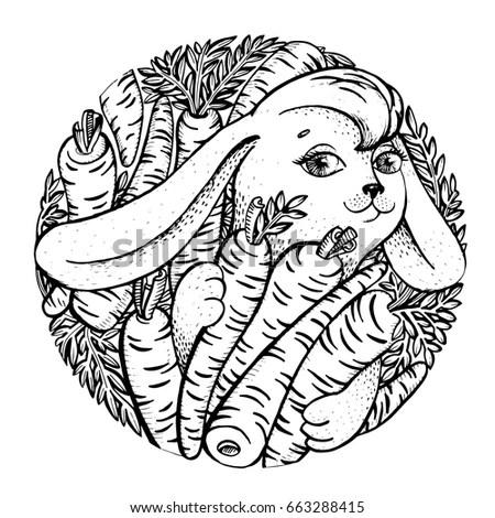 Tattoo vector illustration indian man Stock Photo