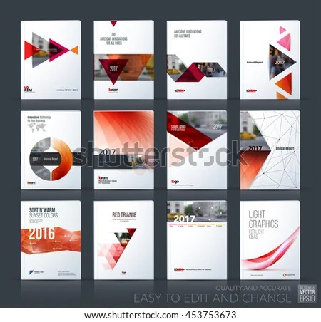 Abstract Business Brochure Design Set In Creative Style Download