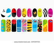 nail design stock vector illustration