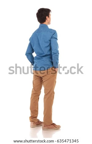 man back view isolated